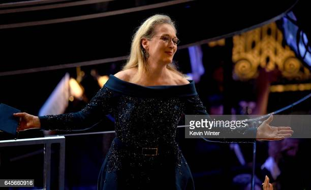 Actor Meryl Streep in the audience during the 89th Annual Academy Awards at Hollywood Highland Center on February 26 2017 in Hollywood California