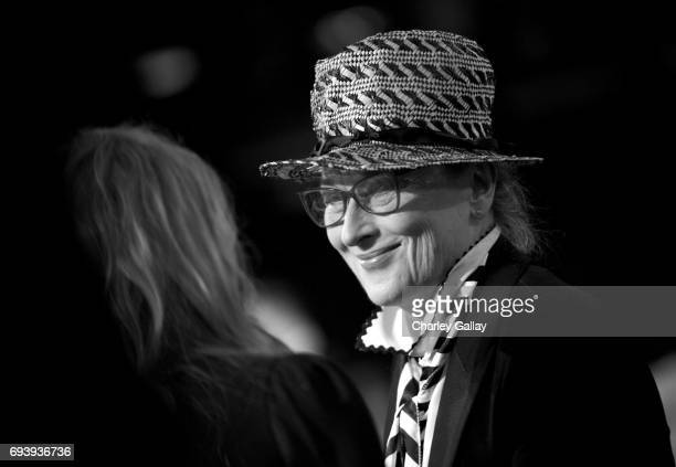 Actor Meryl Streep onstage during American Film Institute's 45th Life Achievement Award Gala Tribute to Diane Keaton at Dolby Theatre on June 8 2017...