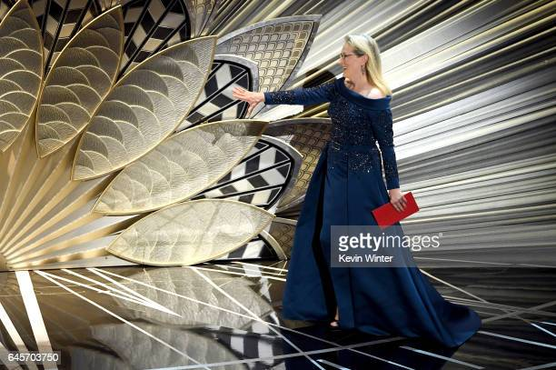 Actor Meryl Streep walks onstage during the 89th Annual Academy Awards at Hollywood Highland Center on February 26 2017 in Hollywood California