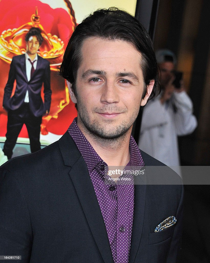 Actor <a gi-track='captionPersonalityLinkClicked' href=/galleries/search?phrase=Michael+Angarano&family=editorial&specificpeople=226743 ng-click='$event.stopPropagation()'>Michael Angarano</a> arrives to the LA screening of Magnolia Pictures' 'The Brass Teapot' at ArcLight Hollywood on March 21, 2013 in Hollywood, California.