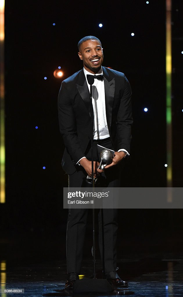 Actor Michael B. Jordan accepts the award for Entertainer of the Year onstage during the 47th NAACP Image Awards presented by TV One at Pasadena Civic Auditorium on February 5, 2016 in Pasadena, California.