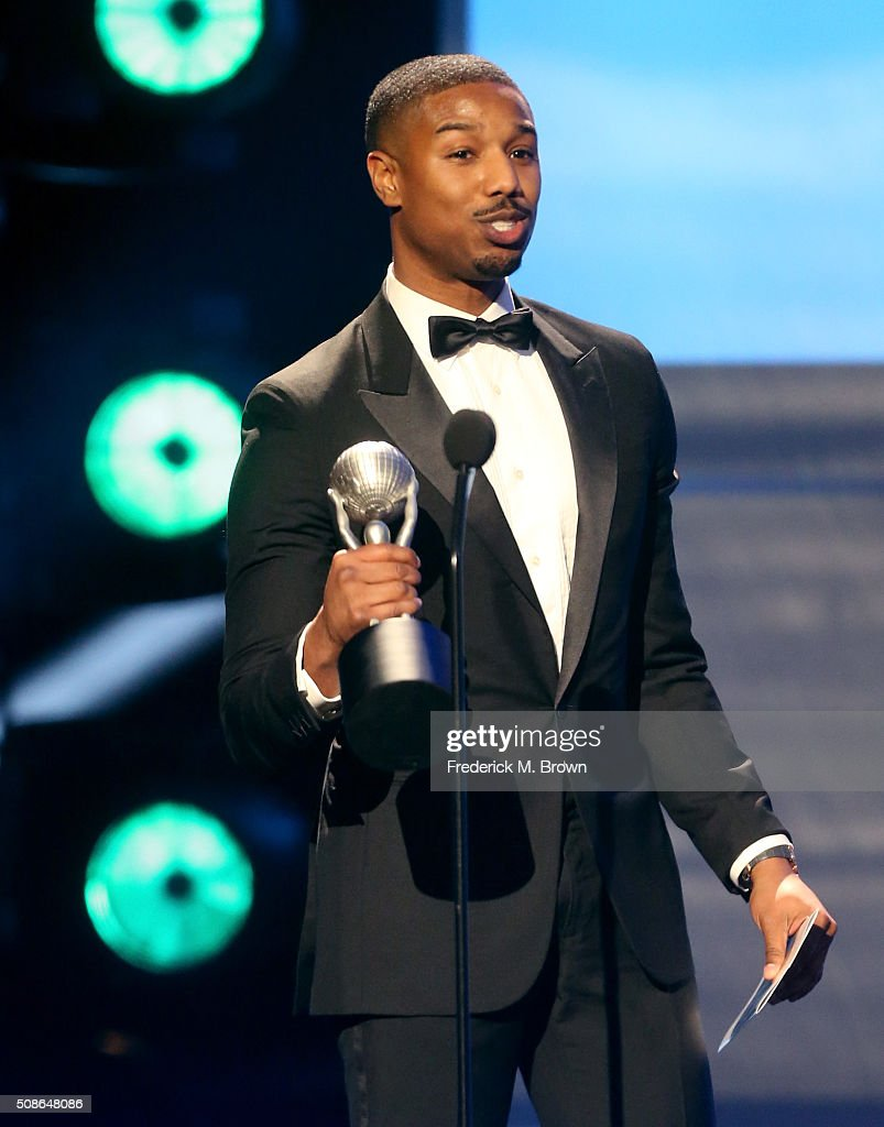 Actor Michael B. Jordan accepts the award for Oustanding Actor in a Motion Picture for 'Creed' onstage during the 47th NAACP Image Awards presented by TV One at Pasadena Civic Auditorium on February 5, 2016 in Pasadena, California.