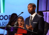 Actor Michael B Jordan accepts the Hollywood Spotlight Award for 'Fruitvale Station' onstage during the 17th annual Hollywood Film Awards at The...