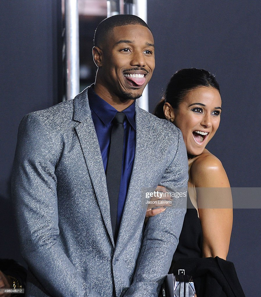 Actor Michael B Jordan and actress Emmanuelle Chriqui attend the premiere of 'Creed' at Regency Village Theatre on November 19 2015 in Westwood...