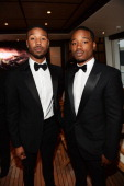 Actor Michael B Jordan and director Ryan Coogler attend the Fruitvale Station Cannes screening dinner held aboard the Harle Yacht on May 16 2013 in...