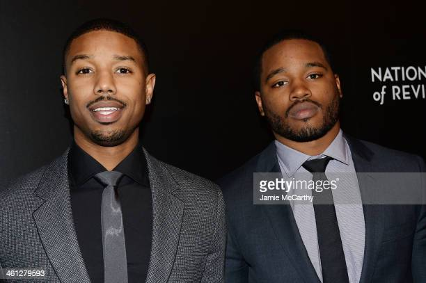 Actor Michael B Jordan and filmmaker Ryan Coogler attend the 2014 National Board Of Review Awards Gala at Cipriani 42nd Street on January 7 2014 in...