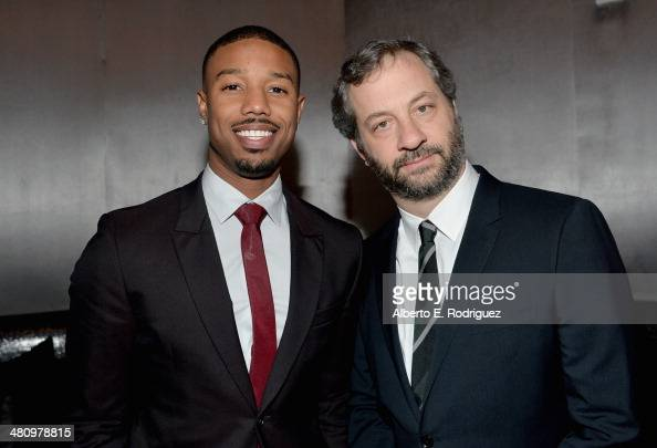 Actor Michael B Jordan and producer Judd Apatow attend The CinemaCon Big Screen Achievement Awards brought to you by The CocaCola Company during...