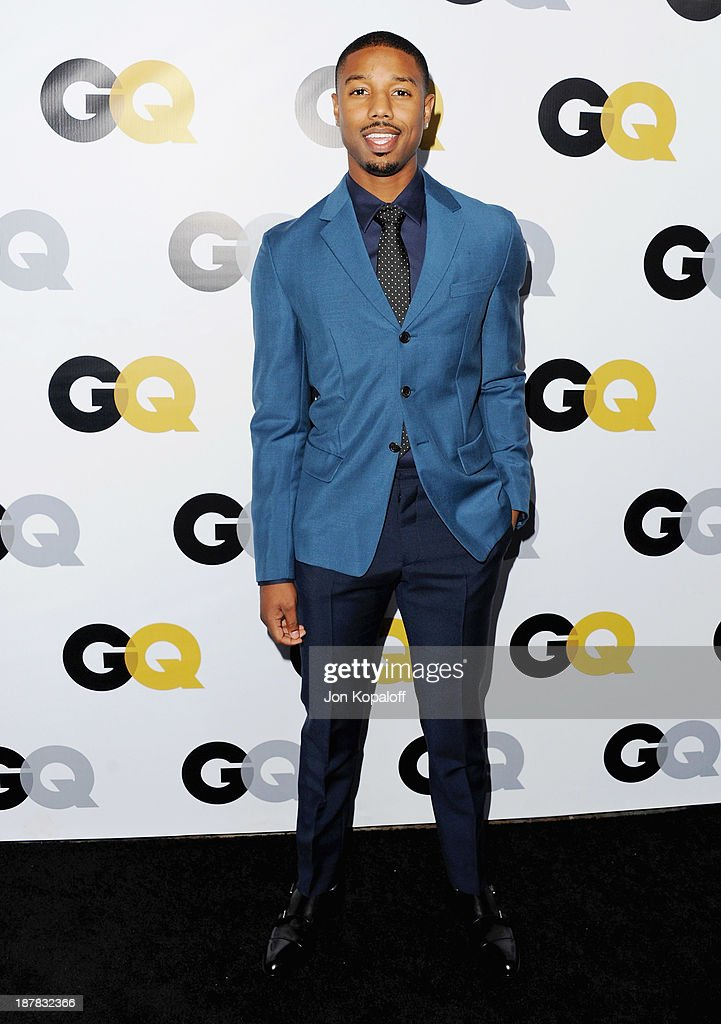 Actor Michael B. Jordan arrives at GQ Celebrates The 2013 'Men Of The Year' at The Wilshire Ebell Theatre on November 12, 2013 in Los Angeles, California.