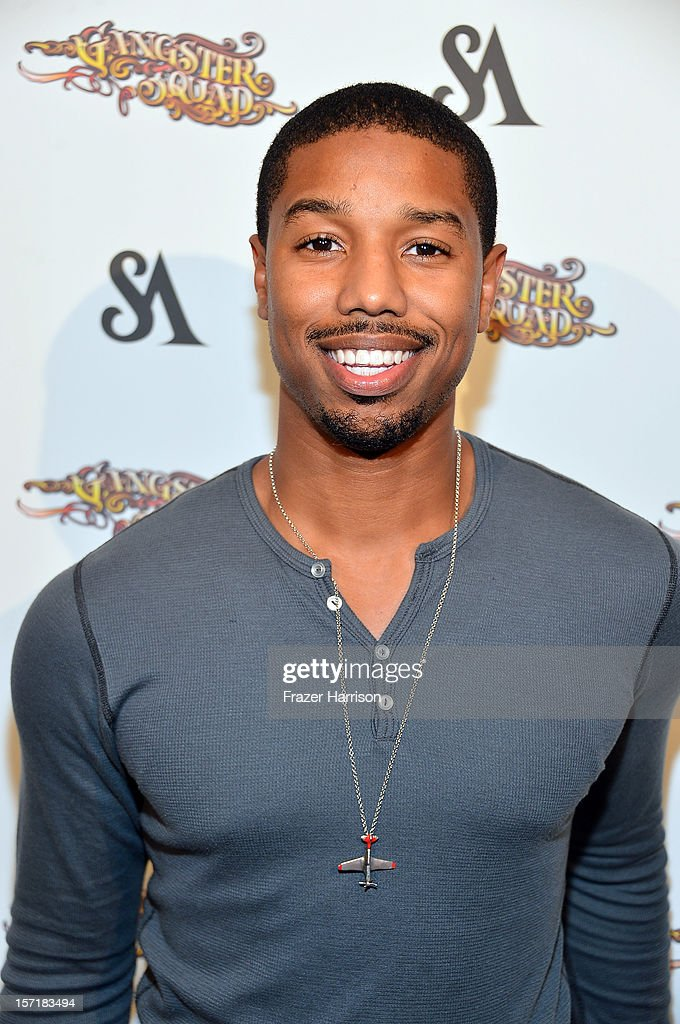 Actor Michael B. Jordan arrives at SA Studios and Mister Cartoon VIP Screening and After Party of Warner Brothers Pictures 'Gangster Squad' at La Live Regal Cinemas on November 29, 2012 in Los Angeles, California.