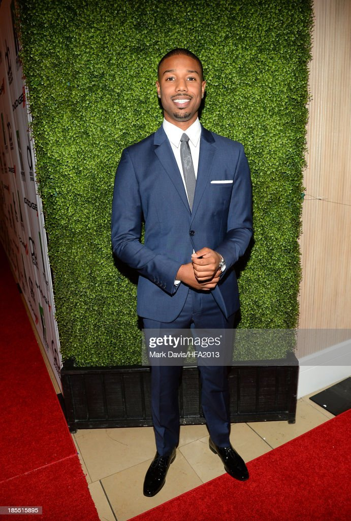 Actor <a gi-track='captionPersonalityLinkClicked' href=/galleries/search?phrase=Michael+B.+Jordan+-+Actor&family=editorial&specificpeople=608313 ng-click='$event.stopPropagation()'>Michael B. Jordan</a> arrives at the 17th annual Hollywood Film Awards at The Beverly Hilton Hotel on October 21, 2013 in Beverly Hills, California.
