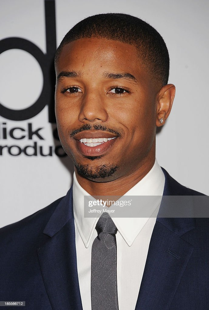 Actor Michael B Jordan arrives at the 17th Annual Hollywood Film Awards at The Beverly Hilton Hotel on October 21 2013 in Beverly Hills California