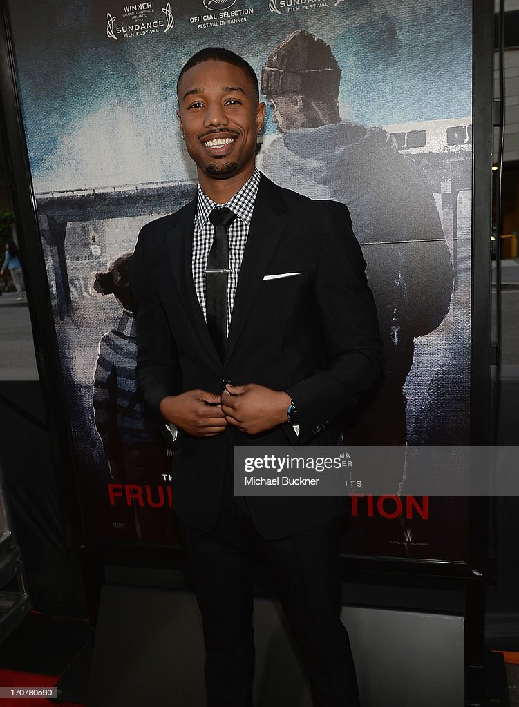 Actor Michael B. Jordan arrives at the premiere of The Weinstein Company's 'Fruitvale Station' at Regal Cinemas L.A. Live on June 17, 2013 in Los Angeles, California.