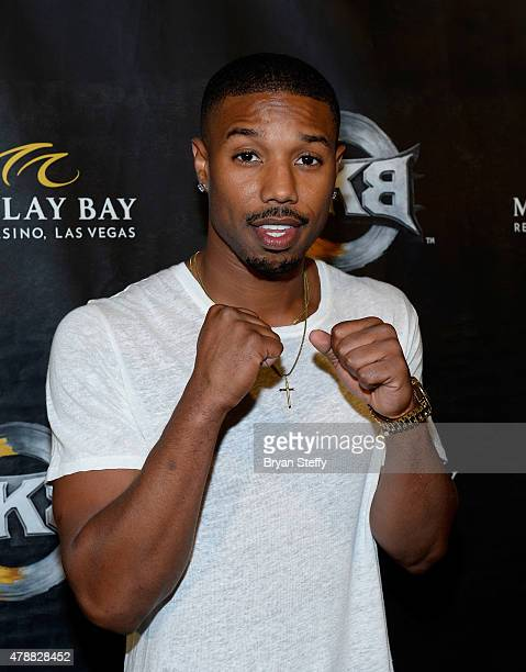 Actor Michael B Jordan attends BKB 3 Big Knockout Boxing at the Mandalay Bay Events Center on June 27 2015 in Las Vegas Nevada