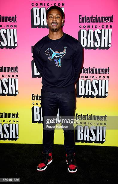 Actor Michael B Jordan attends Entertainment Weekly's ComicCon Bash held at Float Hard Rock Hotel San Diego on July 23 2016 in San Diego California...