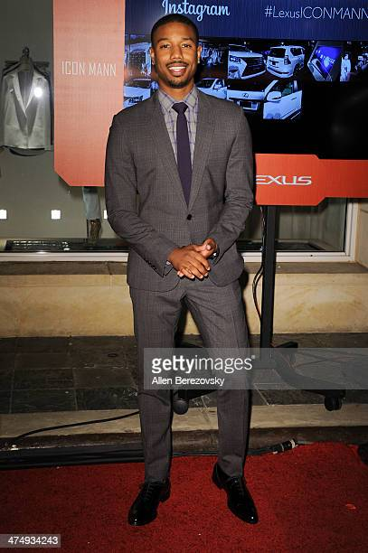 Actor Michael B Jordan attends Icon Mann's 2nd Annual Power 50 PreOscar dinner at Peninsula Hotel on February 25 2014 in Beverly Hills California