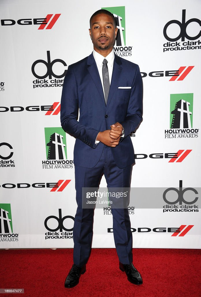 Actor <a gi-track='captionPersonalityLinkClicked' href=/galleries/search?phrase=Michael+B.+Jordan+-+Actor&family=editorial&specificpeople=608313 ng-click='$event.stopPropagation()'>Michael B. Jordan</a> attends the 17th annual Hollywood Film Awards at The Beverly Hilton Hotel on October 21, 2013 in Beverly Hills, California.