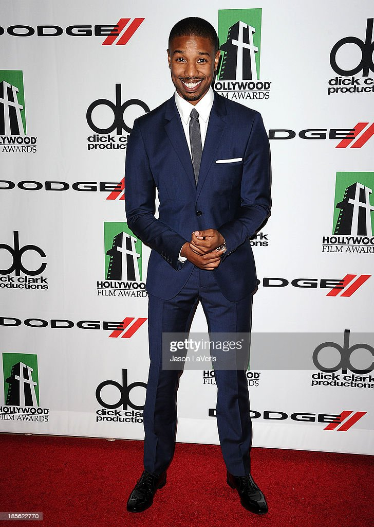 Actor Michael B. Jordan attends the 17th annual Hollywood Film Awards at The Beverly Hilton Hotel on October 21, 2013 in Beverly Hills, California.