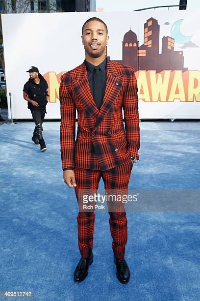 Actor Michael B Jordan attends The 2015 MTV Movie Awards at Nokia Theatre LA Live on April 12 2015 in Los Angeles California