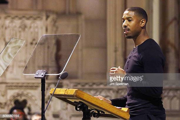 Actor Michael B Jordan attends the 2016 MLK Now at Riverside Church on January 18 2016 in New York City