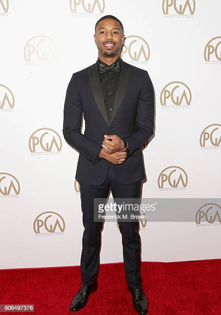Actor Michael B Jordan attends the 27th Annual Producers Guild Of America Awards at the Hyatt Regency Century Plaza on January 23 2016 in Century...