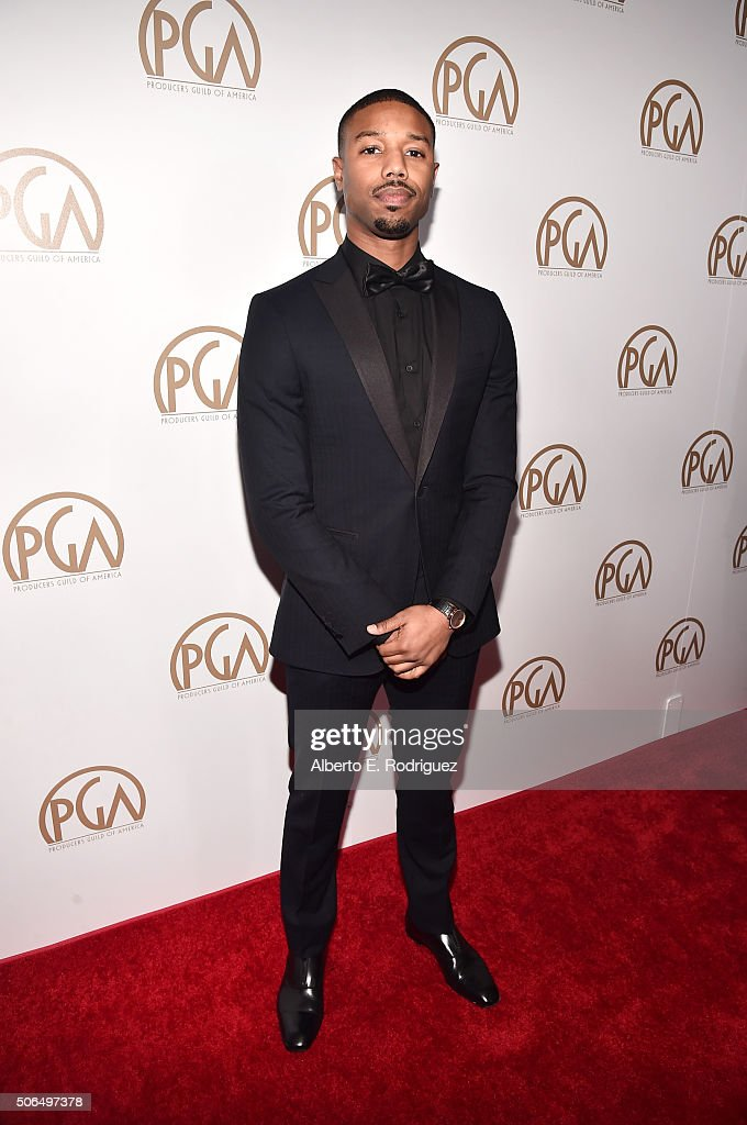 Actor Michael B. Jordan attends the 27th Annual Producers Guild Of America Awards at the Hyatt Regency Century Plaza on January 23, 2016 in Century City, California.