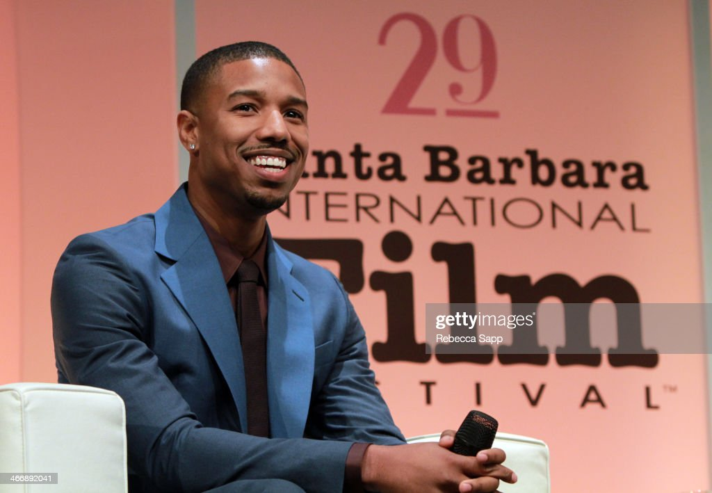 Actor <a gi-track='captionPersonalityLinkClicked' href=/galleries/search?phrase=Michael+B.+Jordan+-+Actor&family=editorial&specificpeople=608313 ng-click='$event.stopPropagation()'>Michael B. Jordan</a> attends the 29th Santa Barbara International Film Festival Virtuosos Award to Daniel Bruhl, <a gi-track='captionPersonalityLinkClicked' href=/galleries/search?phrase=Michael+B.+Jordan+-+Actor&family=editorial&specificpeople=608313 ng-click='$event.stopPropagation()'>Michael B. Jordan</a>, Brie Larson, Jared Leto and June Squibb on February 4, 2014 in Santa Barbara, California.