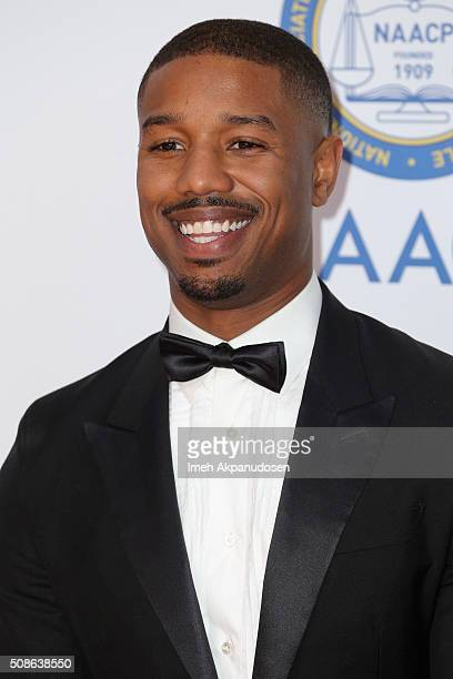 Actor Michael B Jordan attends the 47th NAACP Image Awards presented by TV One at Pasadena Civic Auditorium on February 5 2016 in Pasadena California