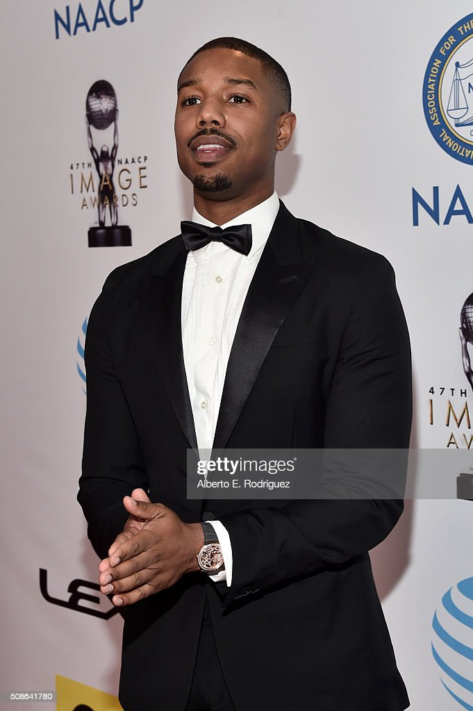 Actor <a gi-track='captionPersonalityLinkClicked' href=/galleries/search?phrase=Michael+B.+Jordan+-+Ator&family=editorial&specificpeople=608313 ng-click='$event.stopPropagation()'>Michael B. Jordan</a> attends the 47th NAACP Image Awards presented by TV One at Pasadena Civic Auditorium on February 5, 2016 in Pasadena, California.