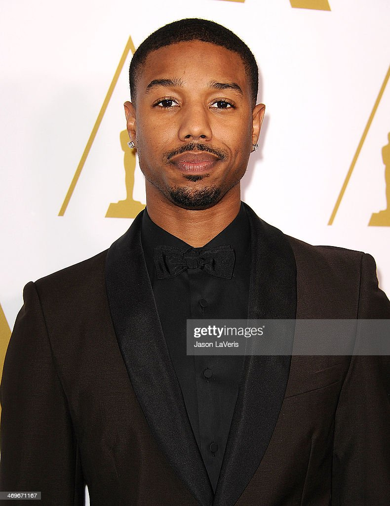 Actor <a gi-track='captionPersonalityLinkClicked' href=/galleries/search?phrase=Michael+B.+Jordan+-+Actor&family=editorial&specificpeople=608313 ng-click='$event.stopPropagation()'>Michael B. Jordan</a> attends the Academy of Motion Picture Arts and Sciences' Scientific and Technical Awards ceremony at Beverly Hills Hotel on February 15, 2014 in Beverly Hills, California.
