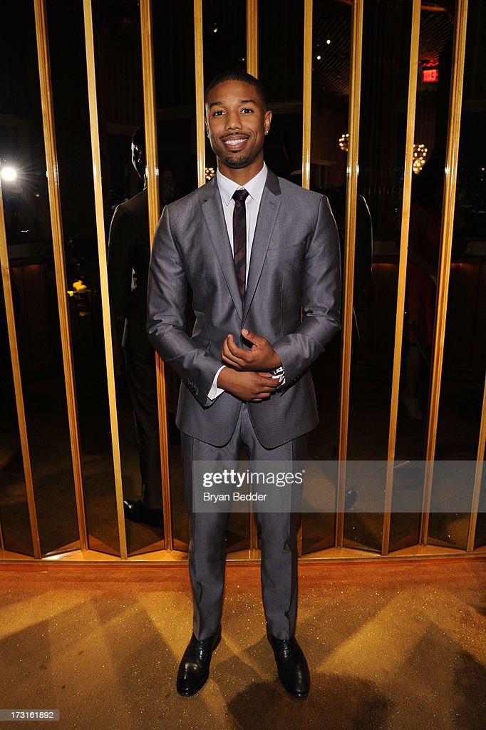Actor <a gi-track='captionPersonalityLinkClicked' href=/galleries/search?phrase=Michael+B.+Jordan+-+Actor&family=editorial&specificpeople=608313 ng-click='$event.stopPropagation()'>Michael B. Jordan</a> attends the after party at the New York premiere of FRUITVALE STATION, hosted by The Weinstein Company, BET Films and CIROC Vodka on July 8, 2013 in New York City.