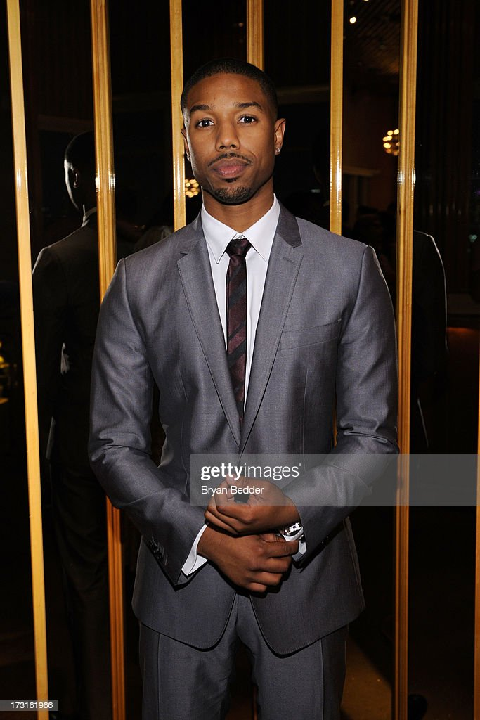 Actor Michael B. Jordan attends the after party at the New York premiere of FRUITVALE STATION, hosted by The Weinstein Company, BET Films and CIROC Vodka on July 8, 2013 in New York City.