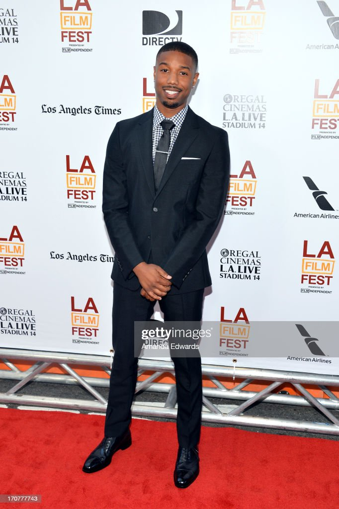 Actor Michael B. Jordan attends the 'Fruitvale Station' premiere during the 2013 Los Angeles Film Festival at Regal Cinemas L.A. Live on June 17, 2013 in Los Angeles, California.