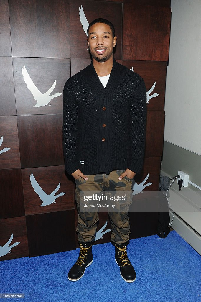 Actor Michael B. Jordan attends the Grey Goose Blue Door 'Fruitvale' Dinner on January 19, 2013 in Park City, Utah.