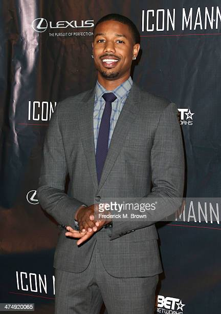 Actor Michael B Jordan attends the ICON MANN Second Annual POWER 50 PreOscar Dinner at The Peninsula Hotel on February 25 2014 in Beverly Hills...