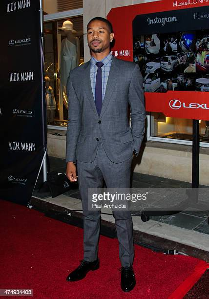 Actor Michael B Jordan attends the Icon Mann's 2nd annual Power 50 preOscar dinner at the Peninsula Hotel on February 25 2014 in Beverly Hills...