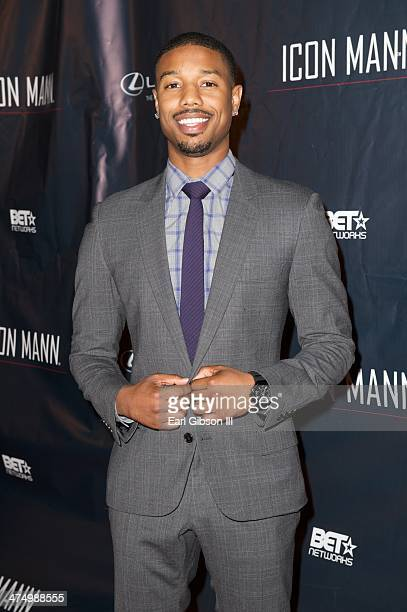 Actor Michael B Jordan attends the Icon Mann's 2nd Annual Power 50 PreOscar Dinner at Peninsula Hotel on February 25 2014 in Beverly Hills California