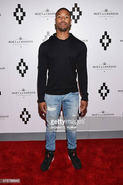 Actor Michael B Jordan attends the Moet Nectar Imperial Rose x Marcelo Burlon Launch Event on June 3 2015 in New York City