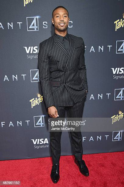 Actor Michael B Jordan attends the New York premiere of 'Fantastic Four' at Williamsburg Cinemas on August 4 2015 in New York City