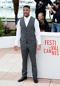 Actor Michael B Jordan attends the photocall for 'Fruitvale Station' during the 66th Annual Cannes Film Festival at Palais des Festivals on May 16...