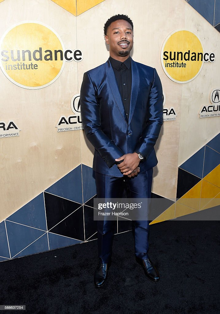 Actor Michael B Jordan attends the Sundance Institute NIGHT BEFORE NEXT Benefit at The Theatre at The Ace Hotel on August 11 2016 in Los Angeles...