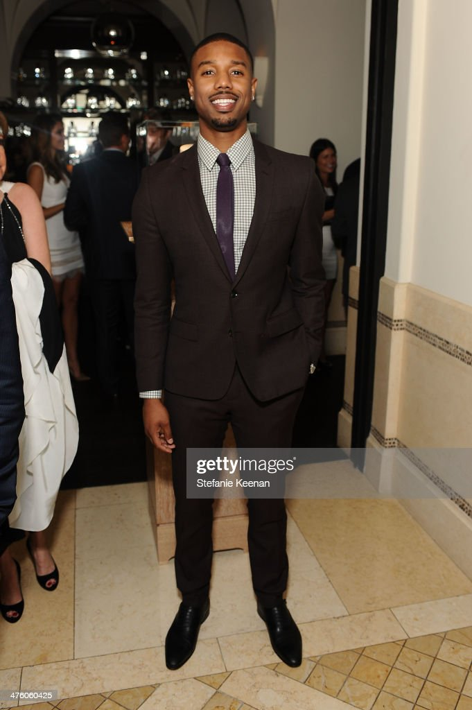 Actor <a gi-track='captionPersonalityLinkClicked' href=/galleries/search?phrase=Michael+B.+Jordan+-+Actor&family=editorial&specificpeople=608313 ng-click='$event.stopPropagation()'>Michael B. Jordan</a> attends The Weinstein Company Academy Award party hosted by Chopard on March 1, 2014 in Beverly Hills, California.