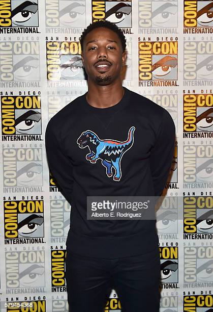 "Actor Michael B Jordan from Marvel Studios' 'Black Panther"" attends the San Diego ComicCon International 2016 Marvel Panel in Hall H on July 23 2016..."