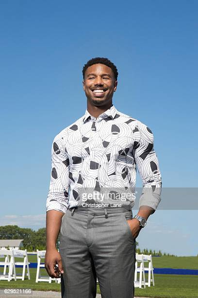 Actor Michael B Jordan is photographed for The London Times on August 7 2016 in Hampton New York