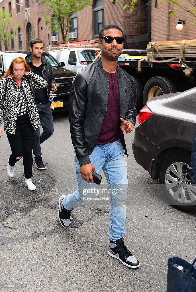 Actor <a gi-track='captionPersonalityLinkClicked' href=/galleries/search?phrase=Michael+B.+Jordan+-+Acteur&family=editorial&specificpeople=608313 ng-click='$event.stopPropagation()'>Michael B. Jordan</a> is seen walking Soho on May 4, 2016 in New York City.