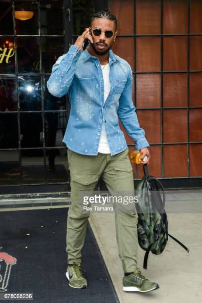 Actor Michael B Jordan leaves his Noho hotel on May 03 2017 in New York City