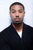 Actor Michael B Jordan poses for a portrait during the 2013 Sundance Film Festival at the WireImage Portrait Studio at Village At The Lift on January...