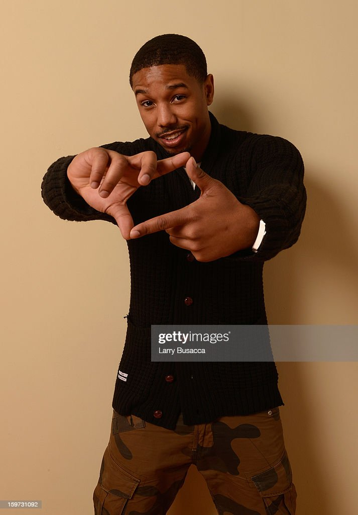 Actor Michael B. Jordan poses for a portrait during the 2013 Sundance Film Festival at the Getty Images Portrait Studio at Village at the Lift on January 19, 2013 in Park City, Utah.