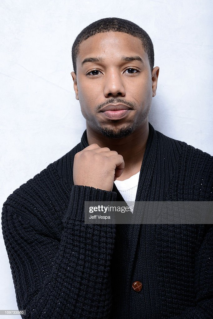 Actor Michael B. Jordan poses for a portrait during the 2013 Sundance Film Festival at the WireImage Portrait Studio at Village At The Lift on January 19, 2013 in Park City, Utah.