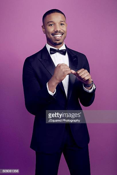 Actor Michael B Jordan poses for a portrait during the 47th NAACP Image Awards presented by TV One at Pasadena Civic Auditorium on February 5 2016 in...
