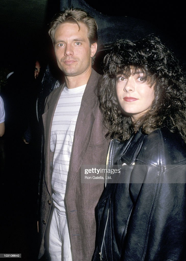 Actor Michael Biehn and wife Gina Marsh attends the Heinz Holba, President of L.A. Models, Hosts Party for Los Angeles Photographers on June 9, 1988 at Twenty/20 Club in Century City, California.